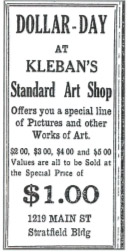 Abel Kleban builds retail buildings (paint store, frame shop) on Cannon Street in Bridgeport, CT. All was later lost in the depression.